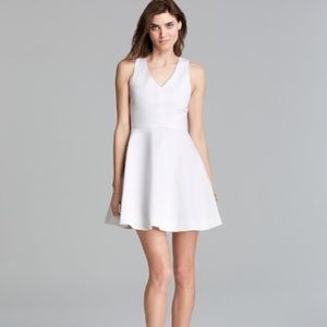 Joie Fit and Flare Dress in Porcelain